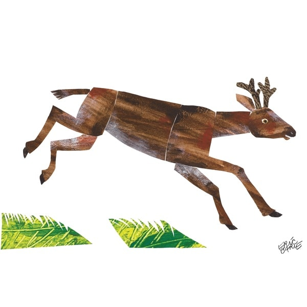 Baby Bear Character Art Mule Deer Canvas Print by Eric Carle