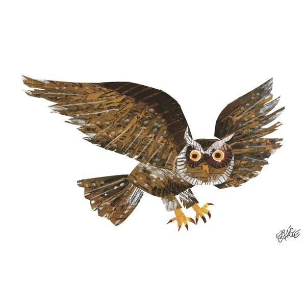 Eric Carle Baby Bear Character Art Screech Owl Canvas Print