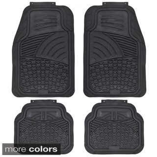 Motor Trend Diamond Sea Shell Odorless 4-piece Trimmable Rubber Mats
