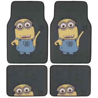 BDK Despicable Me Minions Floor Mats 4-Piece Officially Licensed Products