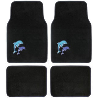 BDK Dolphins Design 4-piece Car Floor Mats (Universal Fit)
