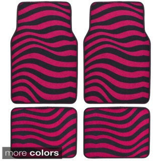 BDK Wave Design 4-piece Car Floor Mats (Universal Fit)