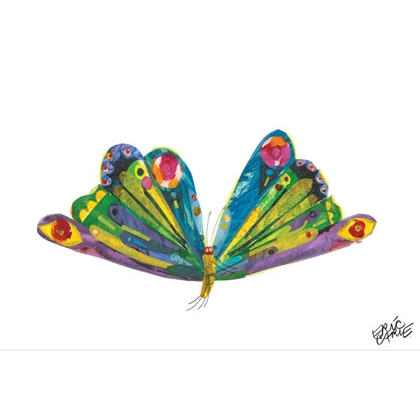 Eric Carle The Very Hungry Caterpillar Character Art Butterfly 1 Canvas Print