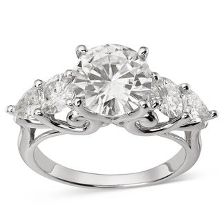 14k White Gold Forever Brilliant Moissanite Fashion Ring