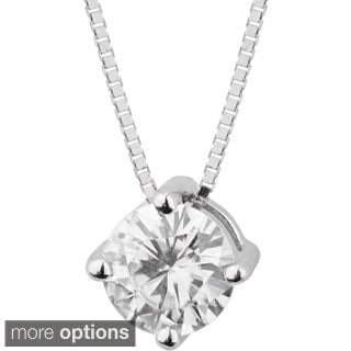 Charles and Colvard 14k White Gold 1ct TGW Forever Brillant Moissanite Solitaire Pendant