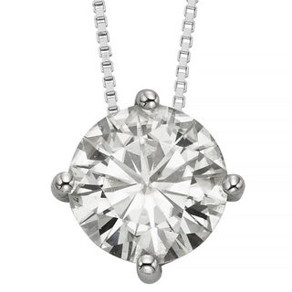 Charles and Colvard 14k 3 1/10ct TGW Forever Brilliant Moissanite Solitaire Pendant
