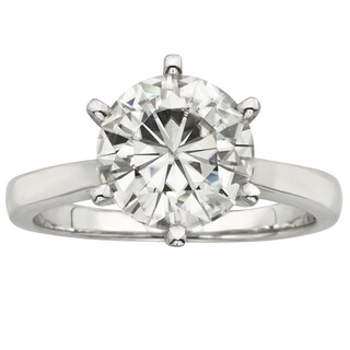 Charles and Colvard 14k White Gold 3 1/10ct TGW Forever Brillant Moissanite Solitaire Ring