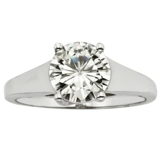 Charles and Colvard 14k White Gold 1 7/8ct TGW Forever Brilliant Moissanite Solitaire Ring