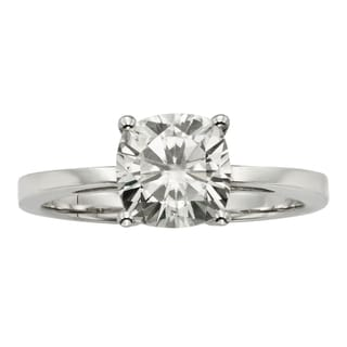 Charles & Colvard 14k Gold 2.00 TGW Cushion Forever Brilliant Moissanite Solitaire Ring