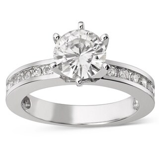 Charles and Colvard 14k White Gold 1 1/2ct TGW Forever Brilliant Moissanite Solitaire Bridal Ring