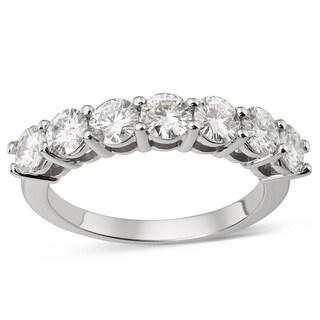 Charles and Colvard 14k White Gold 1/4ct TGW Forever Brilliant Moissanite Bridal Ring