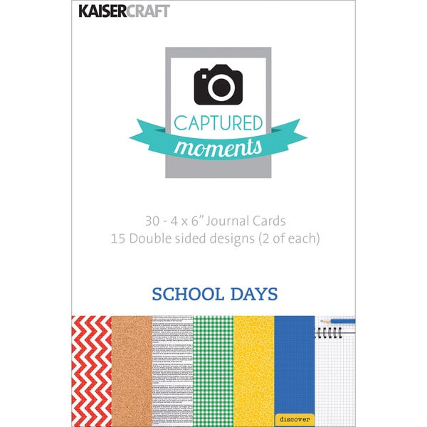 "Captured Moments Double-Sided Cards 6""X4"" 30/Pkg-School Days"