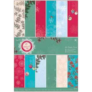 Papermania A4 Paper Pack 36/Pkg-Bellissima Christmas