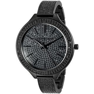 Michael Kors Women's MK3318 Slim Runway Black Glitz Watch