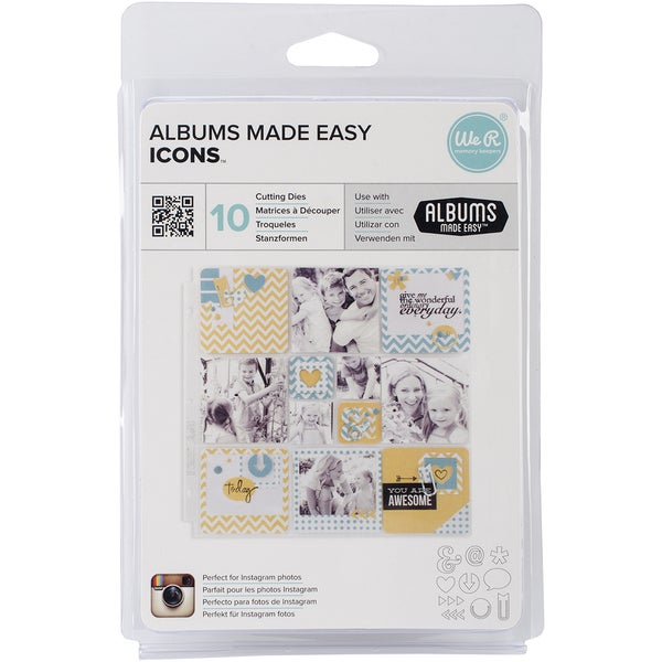 "Albums Made Easy Dies 10/Pkg-Icons, .4""X.5"" To 1.3""X1.5"""