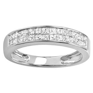 14k White Gold 4/5ct TDW Diamond Anniversary Wedding Band (H-I, I1-2)