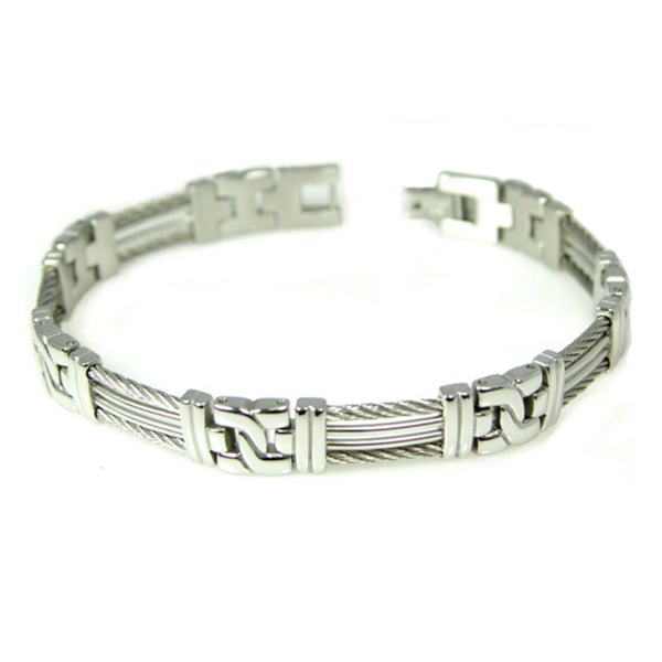 Men Railroad Stainless Bracelet