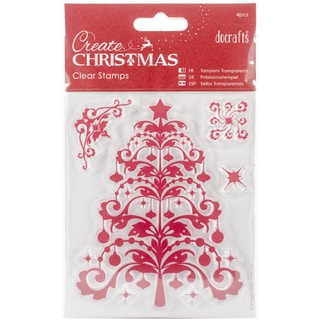 "Papermania Create Christmas Mini Clear Stamps 4""X5""-Christmas Tree"