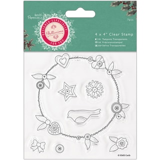 "Papermania Bellissima Christmas Clear Stamps 4""X4"""