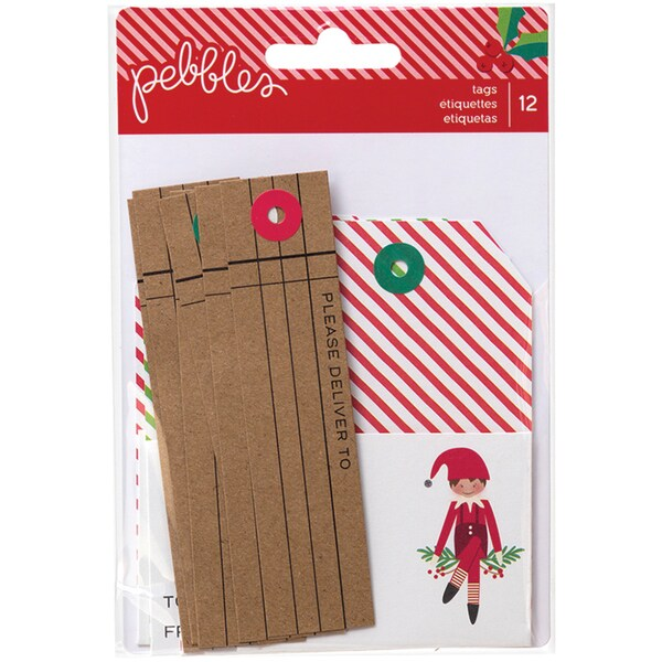 Home For Christmas Cardstock Tags 12/Pkg