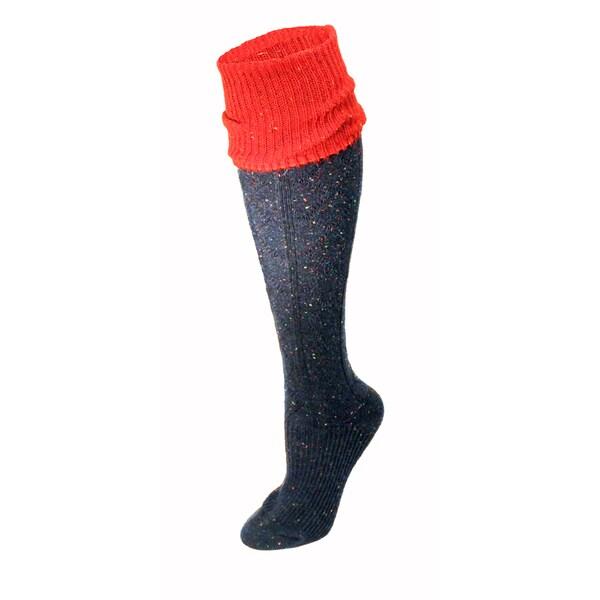 Minx Women's Red and Navy Knee-high Socks