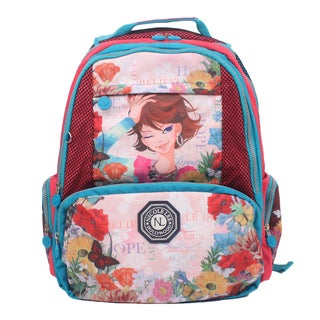 Nicole Lee Xochil Print Wrinkle-Resistant Crinkle Nylon 18-inch Backpack