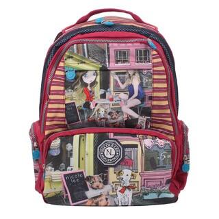 Nicole Lee Cupcake Girl Wrinkle-Resistant Crinkle Nylon 18-inch Backpack