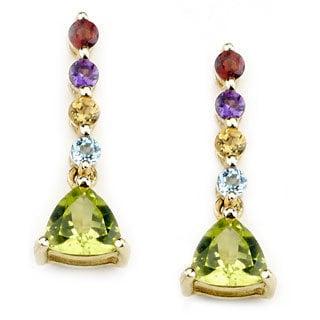 Soho Boutique 14k Yellow Gold Multigemstone Dangle Earrings