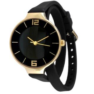 TKO Orlogi Women's Double Wrap Silicon Analog Display Quartz Watch