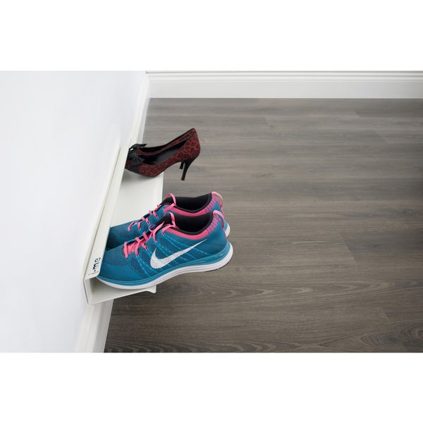 White Horizontal Shoe Rack