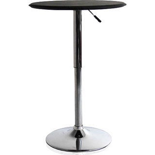 Black Adjustable Bar Table