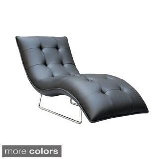 Selina Living Soho Grain Leather Chaise