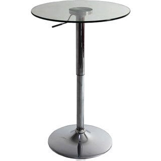 Glass Adjustable Bar Table