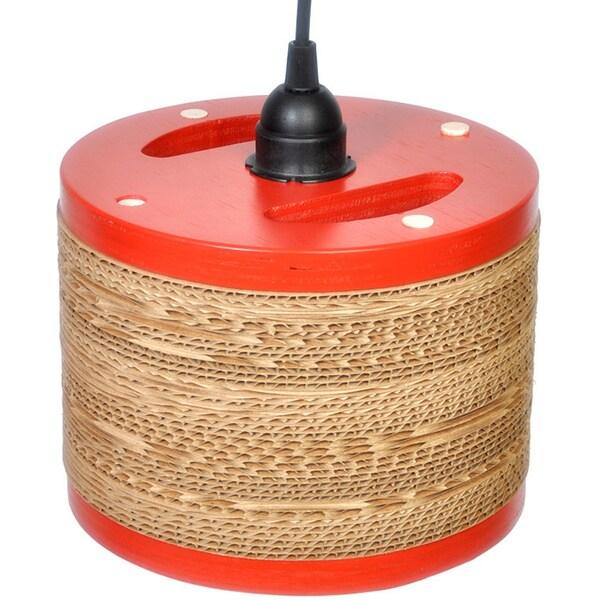 Red Corrugated Cardboard Drum Light