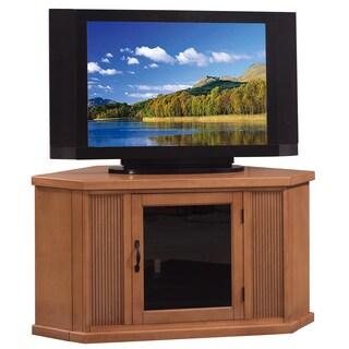 Glazed Buckskin 46-inch Corner TV Stand