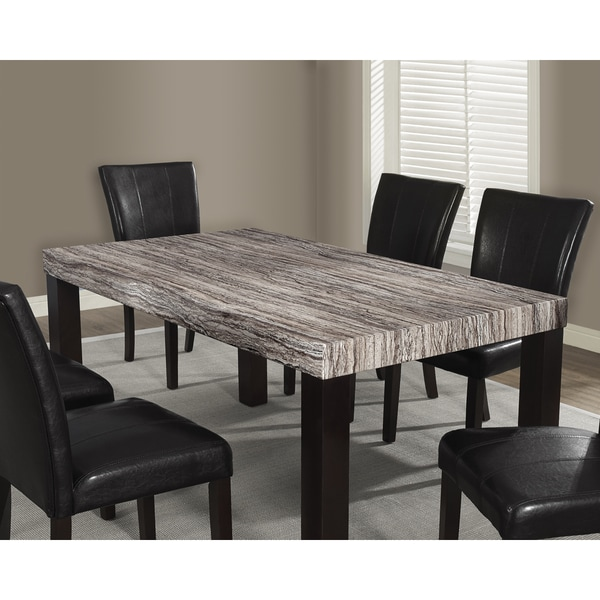 Brown Tone Laquered Marble Look Dining Table Free Shipping Today
