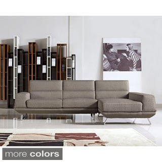 Aileen Fabric Contemporary Right Chaise Sectional Sofa Set