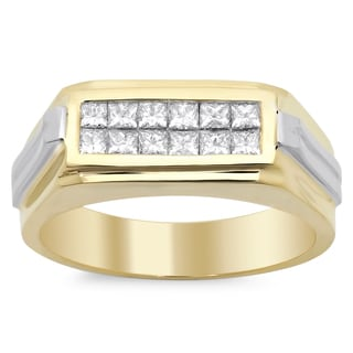 14k Men's Diamond Ring 3/4ct TDW (F-G, SI1-SI2)