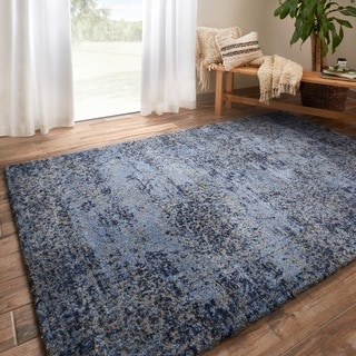 "Alexander Home Cassidy Abstract Modern Distressed Area Rug - 5'3"" x 7'7"""