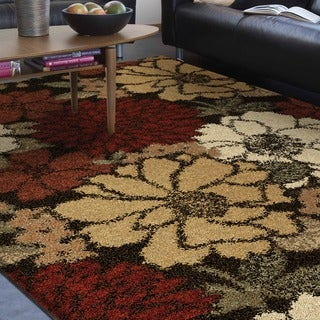 "Euphoria Collection Faith Brown Olefin Area Rug (7'10"" x 10'10"")"