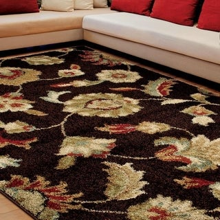 "Euphoria Collection Landyn Brown Olefin Area Rug (7'10"" x 10'10"")"