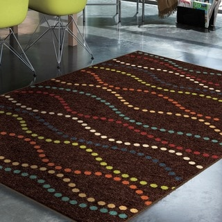 """Promise Collection Starleen Brown Olefin Indoor/Outdoor Area Rug (5'2"""" x 7'6"""")"""