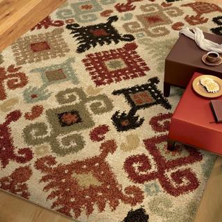 "Euphoria Collection Chanelle Ivory Olefin Area Rug (7'10"" x 10'10"")"