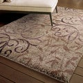 Euphoria Collection Dakota Taupe Olefin Area Rug (7'10
