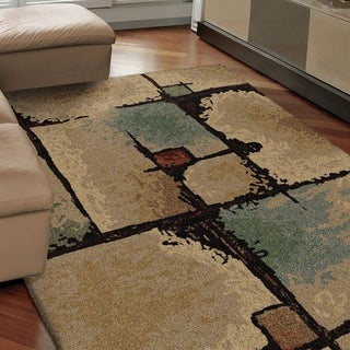 "Euphoria Collection Jacci Beige Olefin Area Rug (5'3"" x 7'6"")"