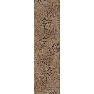 "Euphoria Collection Dakota Taupe Olefin Area Rug (2'3"" x 8')"