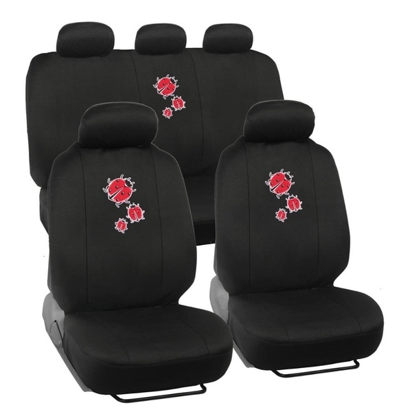 BDK Lady Bug Car Seat Covers Full Set Universal Fit
