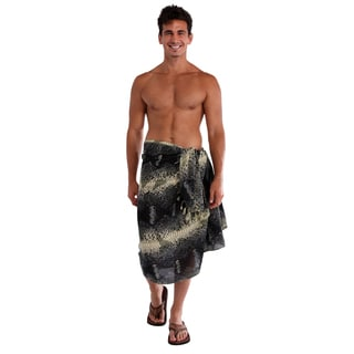 1 World Sarongs Men's Reptile Skin Sarong