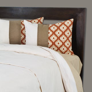 Sydney Oversized 3 Piece Pintuck Duvet Cover Set
