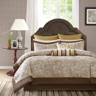 Madison Park Augustina 12-Piece Jacquard Comforter Set